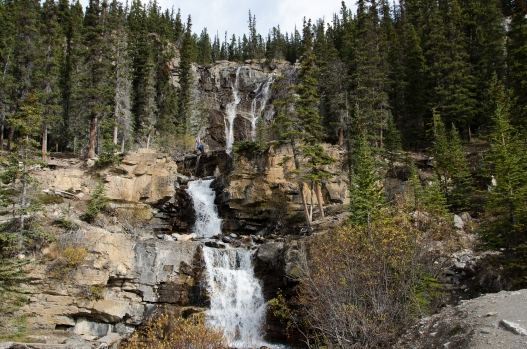 Tangle Falls. See me way up there?