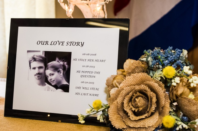 Wedding love story display