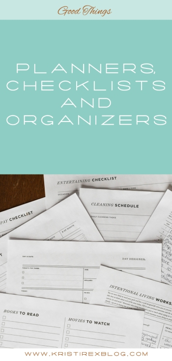 Planners, Organizers and Checklists - Kristi Rex Photography