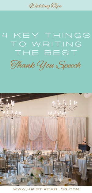4 Key Things to Writing the Best Thank You Speech - Kristi Rex Photography
